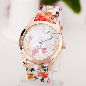 Accessories - Floral Printed Silicone Watch